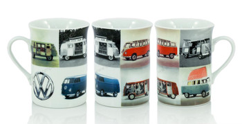VW Vintage Multiple Campervan Coffee Mug
