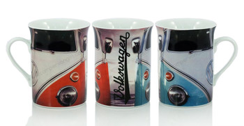 VW Vintage Blue & Red Campervan Coffee Mug