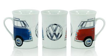 VW Roundel Blue & Red Campervan Coffee Mug