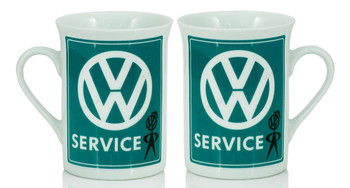 VW Mr Bubblehead Service Campervan Coffee Mug