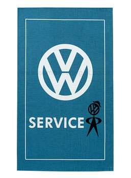 VW Mr Bubblehead Service Campervan Tea Towel