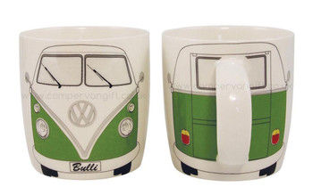 Splitscreen VW Green Campervan Mug