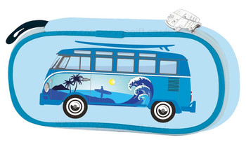 VW Campervan Blue Surfer Pencil / Cosmetic Case
