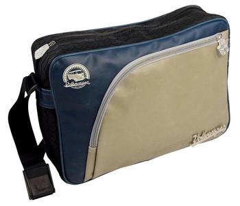 Tyre Tread VW Campervan Blue & Olive Shoulder Bag - Large