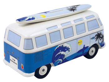 VW T1 Blue Surfer Campervan Money Box