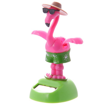 Solar Powered Dancing Flamingo with Sunglasses