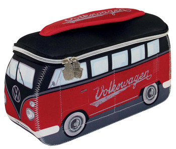VW Black & Red Campervan Universal Neoprene Wash Bag