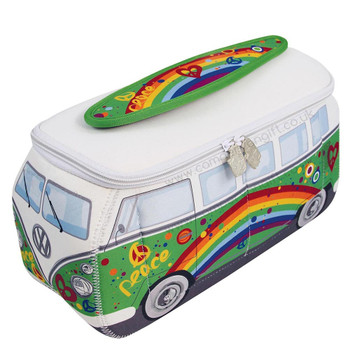 VW Peace Green Campervan Universal Neoprene Wash Bag