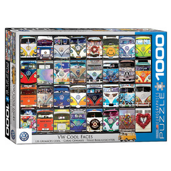 Volkswagen Cool Faces 1000 Piece Campervan Puzzle