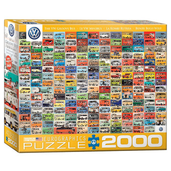 Volkswagen Groovy Bus 2000 Piece Campervan Puzzle