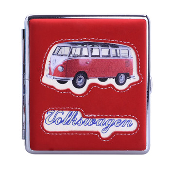 VW Campervan Sideview Cigarette Case - Red