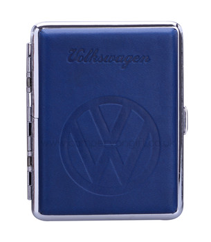 Luxury Embossed VW Campervan Cigarette Case - Blue