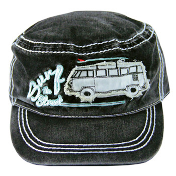 VW Surf The Street Campervan Military Cap - Black