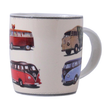 Splitscreen VW Parade Campervan Colours Mug