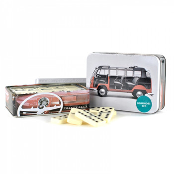 VW Campervan Dominoes Tin Set