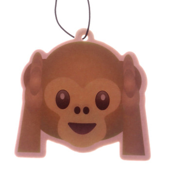 Emoji Hear No Monkey Banana Air Freshener
