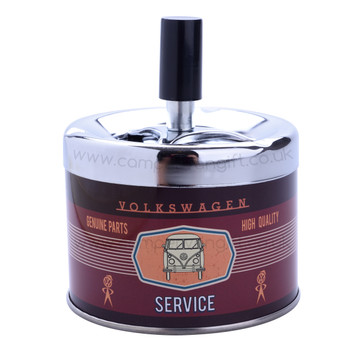 VW Campervan Service Maroon Push Down Ashtray