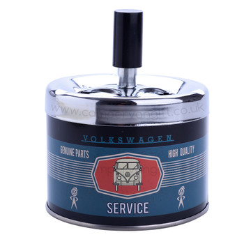 VW Campervan Service Blue Push Down Ashtray