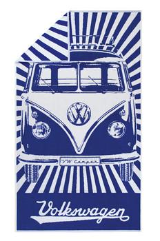 Volkswagen Blue Campervan Beach Towel