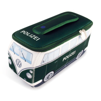 VW Police Green Campervan Universal Neoprene Wash Bag