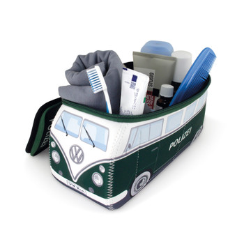 VW Police Green Campervan Universal Neoprene Wash Bag