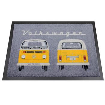 Yellow Bay Window Front & Rear VW Campervan Doormat
