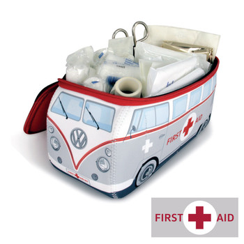 First Aid Kit with Matching VW Campervan Neoprene Bag