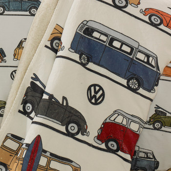 Volkswagen Fun Camper Van Fleece Throw Blanket