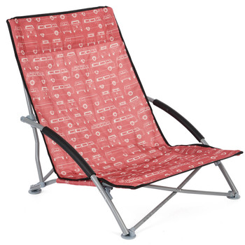 Volkswagen Campervan Red Beach Folding Low Chair