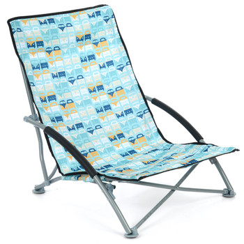 Volkswagen Campervan Blue Beach Folding Low Chair