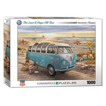 Volkswagen Love and Hope Campervan 1000 Piece Puzzle