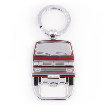 VW T25 Campervan Metal Bottle Opener Keyring