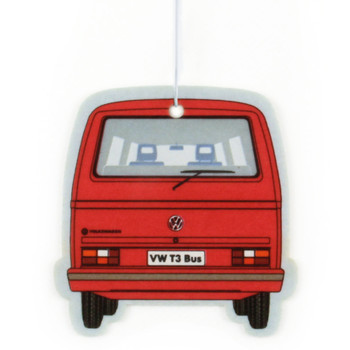 VW T25 Campervan Air Freshener - Vanilla Red
