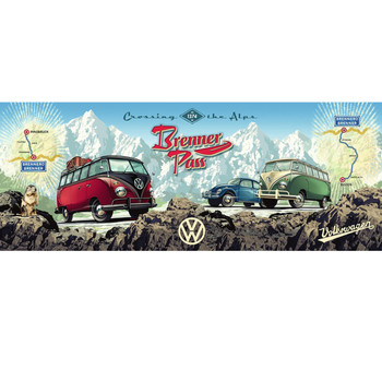 VW Crossing The Alps Brenner Pass Campervan 1000 Piece Puzzle
