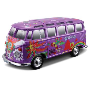 Volkswagen Purple Hippie Samba Diecast Campervan