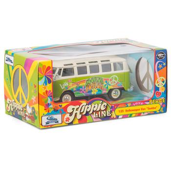 Volkswagen Green Hippie Samba Diecast Campervan