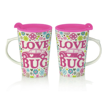 Volkswagen Love Bug Beetle Travel Mug