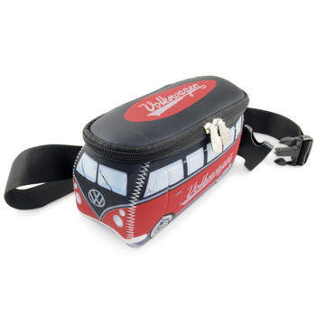 VW Black & Red Campervan Neoprene Hip Bag