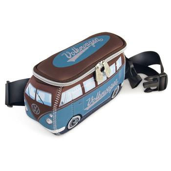 VW Blue & Brown Campervan Neoprene Hip Bag
