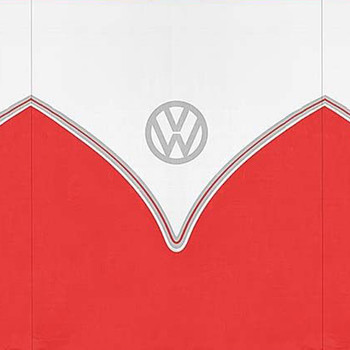 Volkswagen Red Campervan 5 Pole Windbreak