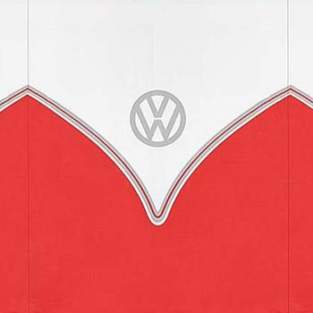 Volkswagen Red Campervan 5 Pole Windbreak
