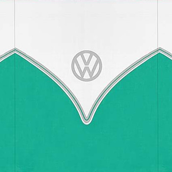 Volkswagen Green Campervan 5 Pole Windbreak