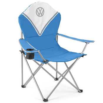 Volkswagen Blue Campervan Deluxe Camping Chair