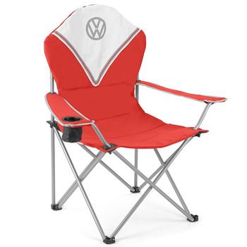 Volkswagen Red Campervan Deluxe Camping Chair
