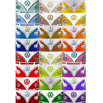 Multi Coloured Campervan Wallpaper VW Wall Mural
