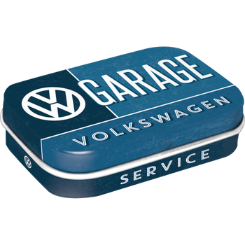 Volkswagen Campervan VW Garage Metal Mint Box