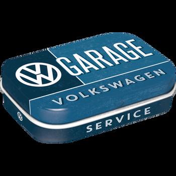 Volkswagen Campervan VW Garage Metal Mint Box
