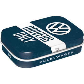 Volkswagen Campervan VW Drivers Only Metal Mint Box