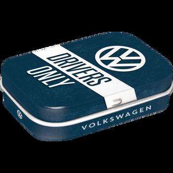 Volkswagen Campervan VW Drivers Only Metal Mint Box