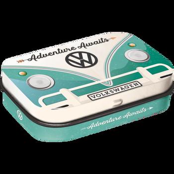 Volkswagen Campervan Adventure Awaits Metal Mint Box